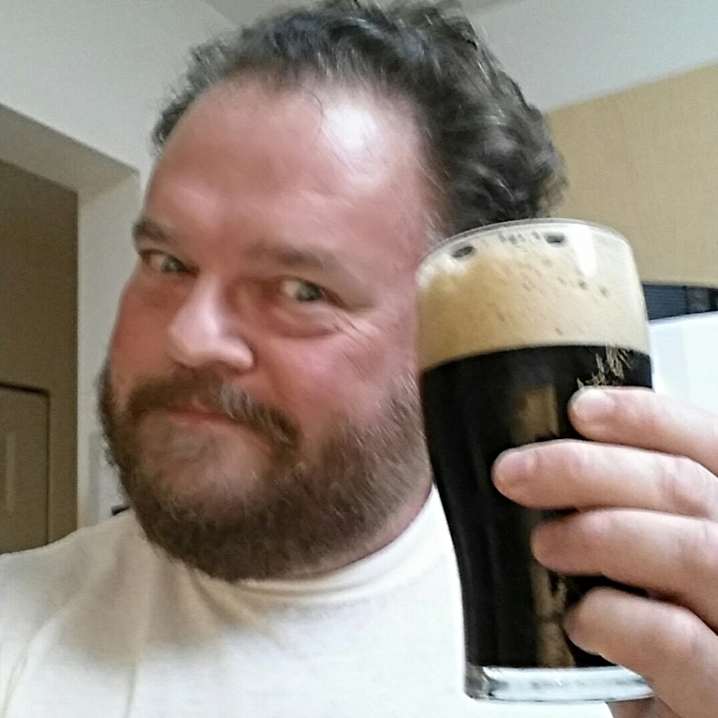 Who can make a sad face with a glass of stout?