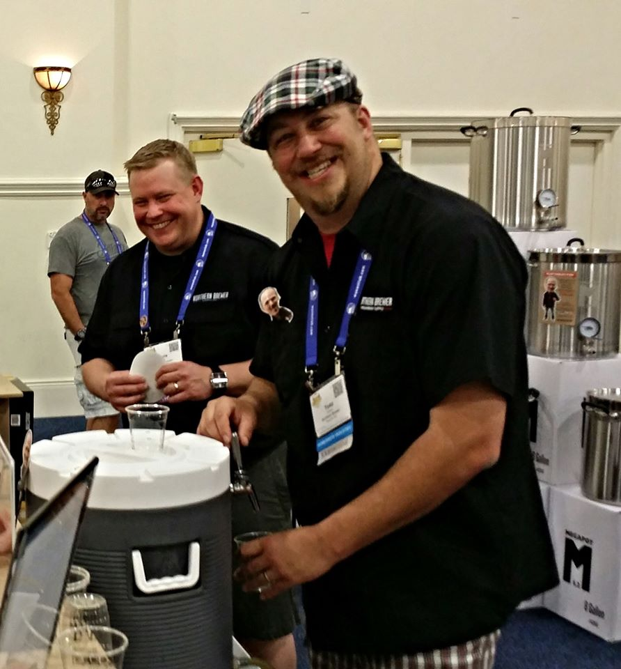 Hanging at the Northern Brewer booth with Todd and Chris. Good times!