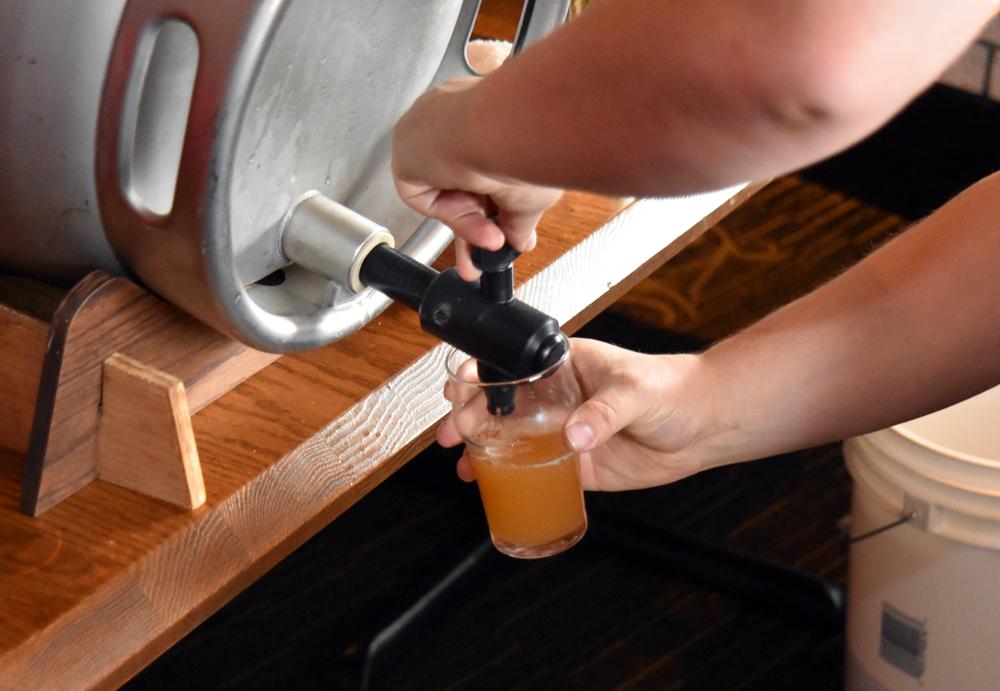 pouring cask ale